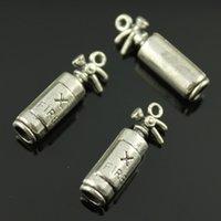 antique fire extinguishers - 50pcs mm colors antique silver antique bronze color D Fire Extinguisher charms