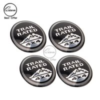 Wholesale 56 mm D Car Badge Wheel Center Hub Cap Sticker Durable Logo Brand Emblem Car Accessory Anti Fade Wheel Decoration Fit For TRAIL RATED