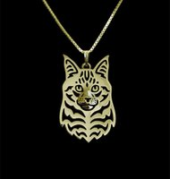 animals maine - Maine Coon Cat Necklace Pendant Silver Gold Necklaces Pendants For Women Casual Jewelry Charms Dog Necklace