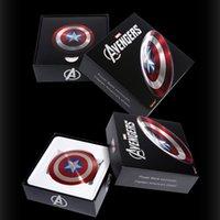 / Cargador portátil El Capitán América Vengadores Escudo de carga Fuente de alimentación móvil banco de la energía 5000mAh mayor-caliente Sólido USB Dual Shell