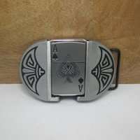 Wholesale spades A playing card lighter belt buckles unique silver belt buckle Retail company costume Souvenirs Souvenirs Gift