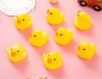 Wholesale Ducks Toys Cheap Wholeslea Baby Bath Water Toy toys Sounds Yellow Rubber Ducks Kids Bathe Children Swiming Beach Gifts