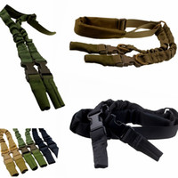 american rifle - Outdoor task rope Tactical American Sling Adjustable Bungee Rifle Gun Sling Strap System Tactical One Point Hunting Gun Sling