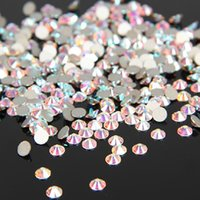 Wholesale Top Quality Very Shiny SS3 SS30 Crystal AB Clear AB Glass Glue Fixed Non Hotfix Flatback Rhinestone Nail Art Decoration Clothing DIY