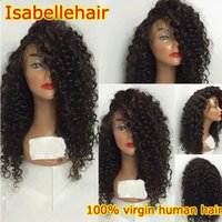 Wholesale Hotselling A Kinky Curly Malaysian Lace Front Wigs Full Lace Front Wigs Human Hair Virgin Hair Wig For Black Women With Baby Hair