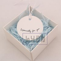Wholesale Especially for you Round White Printed Paper Hang Tags with Paper Ropes Gift Cardboard Hangtags Label Tags CM