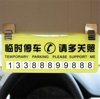 Wholesale Automobiles Motorcycles Exterior Accessories Temporary parking car parking cards temporary parking card message prompt card hidden folding