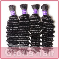 virgin hair bulk - Top A Deep Wave Virgin Brazilian Hair Weave in Bulk No Attachment Cheap Curly Bulk Human Hair Extension for Braiding Bundles Deal