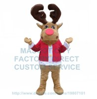 adult moose costume - new Christmas reindeer moose mascot costume adult size cartoon moose theme holiday carnival fancy dress suit kits
