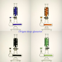 arm systems - 12 inch Freezable coil system Glass Bongs Glass water Pipes with arms perc and inliner perc bong design with mm