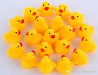 Wholesale Hot Best Baby Bath Water Toy toys Sounds Yellow Rubber Ducks Kids Bathe Children Swim Beach Gifts