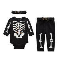 baby skeletons - Unisex Baby Sleepwear Clothing Set Glow in the Dark Skeleton Pyjamas Set Autumn Winter Style