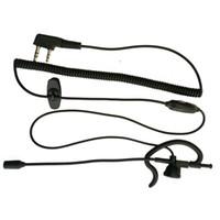 Wholesale New Hot Sale Pin PTT MIC Ear Hook Earpiece Headset for Walkie Talkie for Kenwood WOUXUN HYT TYT KENWOOD ICOM YAESU BAOFENG R s Radio