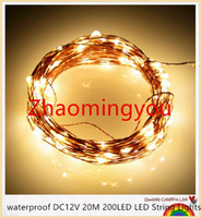 Wholesale YON waterproof DC12V M LED LED String Lights Christmas Fairy Lights colors Copper Wire LED Starry Lights Wedding Decoration