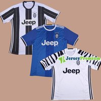 away team - 2016 Club Team Home white Away Blue Third Football Soccer Jerseys POGBA BUFFON PJANIC HIGUAIN DANI ALVES MARCHISIO CHIELLINI