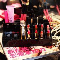 asia beauty - Classic brand LOGO Acrylic CC fashion female makeup tools makeup brush holder pen barrel beauty cosmetic storage box