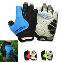 Wholesale Cycling Glove Half Finger Knitting Anti Slip Breathable Men Women Gloves For Cycling Hiking Shooting Surfing Outdoor Sport
