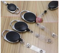 Wholesale 200 X High quality Retractable Pull Key Ring Chain Reel ID Lanyard Name Tag Card Badge Holder Reel Recoil Belt Key Ring Clip