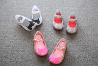 Wholesale Cartoon Girls Sandals New MINI MELISSA CAMPANA ZIG ZAG VI Baby Shoes Summer Dogs Soft bottom Children sandals Kid Jelly shoes XW119