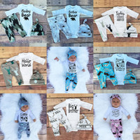 animals caps children - New INS Baby Boys Girls Children Outfits Clothes Letter Sets Kids Toddler Infant Casual Long Sleeve Suits Spring Gift T shirt Pants caps