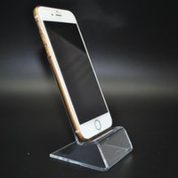 apple retail stores - 20pcs clear plastic Cell Phone Display Holder Mobile Stand for Retail Store Exhibition and display rack