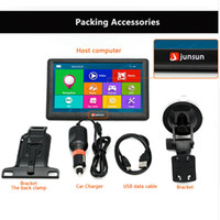 Wholesale Junsun inch Portable Car GPS Navigation System Units GB MB Capacitive Screen Vehicle Truck GPS Sat Nav Free Map Update