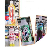 Wholesale Freeship by DHL Advertising Inflatable Beverages Bottle m high Outstanding customize High Inflatable Drink Bottle