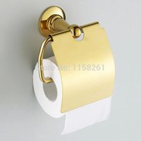 bathroom furniture accessories - Golden finish Paper Holder Roll Holder Tissue Holder Brass Construction Bathroom Accessories sets furniture ST