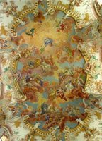 angels universe - Customized large d wall mural fabric wallpaper TV sofa background sitting room bedroom European angel heaven universe ceiling mythology