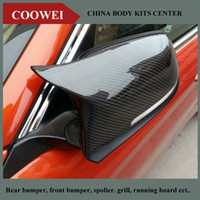 Wholesale M3 style F30 replacement carbon fiber door side wing mirror cover cps for bmw F20 F21 F22 F23 F31 F34 F32 F33 F36 X1 E84 F48