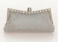 aluminum beading - The new flash diamond drilling Austria aluminum banquet evening cocktail dress Clutch bag