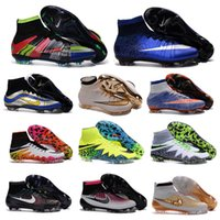 ankle shoes online - 2016 hot sale new mens high ankle boots MaGISta FG HERITAGE shoes CR7 MercURIal SupERfly IV V VI HyperVENom II supeRFLys cleats online
