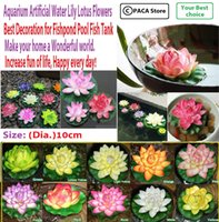 Wholesale Fishpond Pool Fish Tank Aquarium Artificial Water Lily Lotus Flowers Fishpond Pool Home Decoration