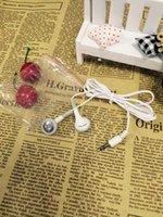 bags music - In Ear Headsets Parallel Wire Earphone Earbuds Headphone Music Earphones Small Sealing In Bags Headsets AA