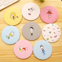 Wholesale 2pcs round cartoon portable porcket mirror mini makeup mirrors kawaii makeup tool for girl
