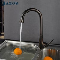 antique furniture oil - AZOS Kitchen Basin Tap Contemporary Rotatable Spray Single Handle Deck Mounted Mixer Antique Oil rubbed Bronze Furniture CFLT574