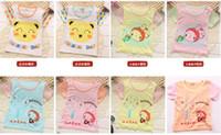 bamboo shirt wholesale - 2016 Summer Hot Sale Children s T shirt Korean Children Bamboo Fiber Shoulder Buckle Boys And Girls T shirt pic
