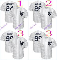 american baseball kid - new york yankees gary sanchez tyler austin Cheap American Baseball Jerseys mens women kids Stitched Jersey