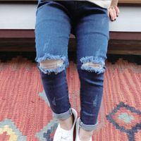 aa jeans - Hug Me Girls Pants new children s clothing children s clothing Hole Jeans Denim Pants AA