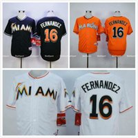 Wholesale Jose Fernandez Miami Marlins Jersey Home White Black Orange Alternate Grey Away Stitched Cheap Men Baseball Jerseys