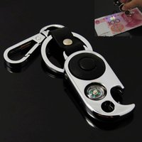 best car lights - NEWest OutDoor Promotions multi function Keychain key ring chain bottle opener compass LED light for Best Boy Girl Gift