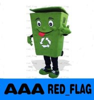 ash trash cans - Recycle trash can mascot costume adult size waste ash bin garbage can anime costumes advertising mascotte fancy dress kits LLFA11