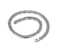chain link fence - Stainless Steel cm Long Link Chain Fence Zigzagged Men Punk Cool Chain From China