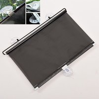 PVC auto car curtain - 2016 Black Auto Sun Visor Car Sun Shade Car Window Suction Cup Car Curtain Auto Sun Shade Car Styling Covers Sunshade