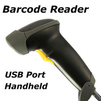 Wholesale USB barcode scanner Long Laser barcode USB Port CCD Handheld Barcode Scanner Bar Code Reader for POS P2P freeshipping