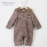 Wholesale 2016 New autumn winter fashion baby rompers long sleeve miscellaneous points pattern hot sale confortable children boutique clothing