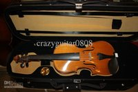 Wholesale 4 FULL SIZE VINTAGE CONCERT GERMAN VIOLIN FIDDLE BOW WITH CASE