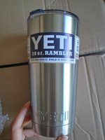 Wholesale 30oz Yeti Cups Rambler Tumbler Bilayer Stainless Steel Insulation YETI Cup oz OZ Cooler Cars Beer Mug Tumblerful
