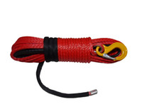 Wholesale Red mm m offroad synthetic winch ropes synthetic rope for wheel x4 winch cable for accessaries