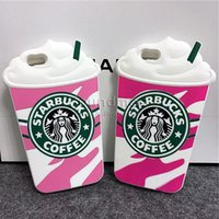 apple creams - Creative Starbucks Phone Case High Quality Silicone Cover For Iphone s Plus s SE Starbucks Coffee Ice Cream With Sucker OPPBAG